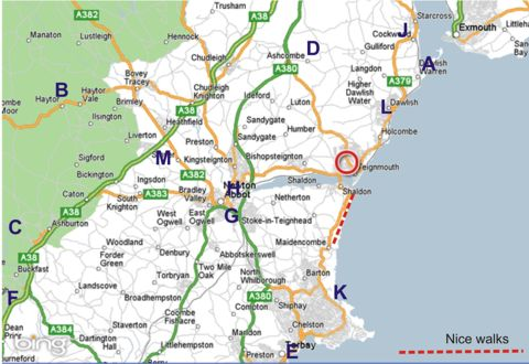map of teignmouth