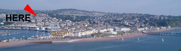 Teignmouth panoramic view